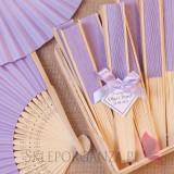 Wachlarz papierowy jasnofioletowy - personalizacja