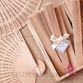 Wachlarze weselne personalizowane Wachlarz drewniany - personalizacja WINIETKA