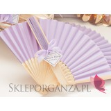Wachlarze weselne personalizowane Wachlarz papierowy jasnofioletowy - personalizacja