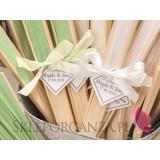 Wachlarze weselne personalizowane Wachlarz papierowy jasnozielony - personalizacja