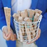 Wachlarze weselne Wachlarz drewniany