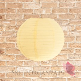 Lampion dekoracyjny, kula żółty pastelowy 35cm