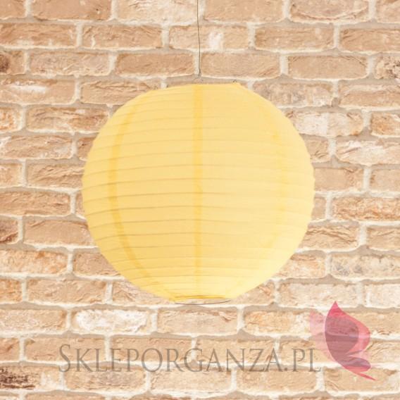 Papierowe lampiony kule Lampion dekoracyjny, kula żółta 35cm
