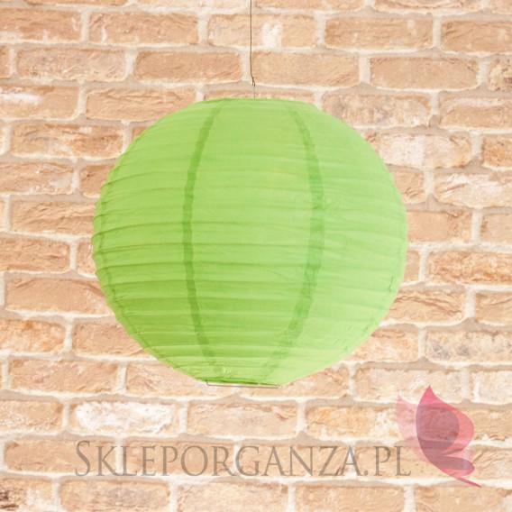 Papierowe lampiony kule na wesele Lampion dekoracyjny, kula zielona 35cm