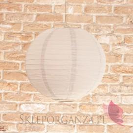 Lampion dekoracyjny, kula szara 35cm