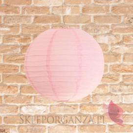 Lampion dekoracyjny, kula różowa 35cm