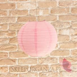 Lampion dekoracyjny, kula różowa 25cm