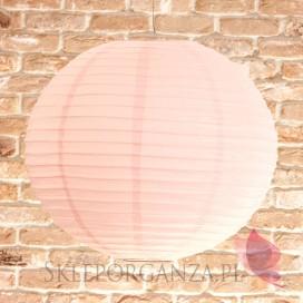 Papierowe lampiony kule Lampion dekoracyjny, kula pudrowy róż 50cm