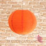 Papierowe lampiony kule na wesele Lampion dekoracyjny, kula pomarańczowa 35cm
