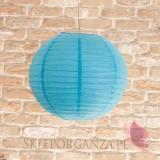 Lampion dekoracyjny, kula niebieska 35cm