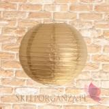 Lampion dekoracyjny, kula metaliczna złota 35cm