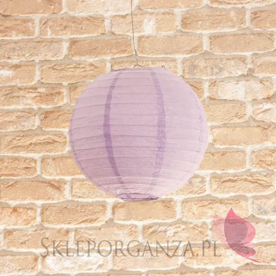 Papierowe lampiony kule na wesele Lampion dekoracyjny, kula liliowa 25cm