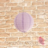 Papierowe lampiony kule Lampion dekoracyjny, kula liliowa 20cm
