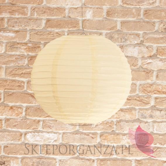 Papierowe lampiony kule na wesele Lampion dekoracyjny, kula kremowa 35cm