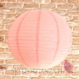 Lampion dekoracyjny, kula jasnoróżowa 50cm