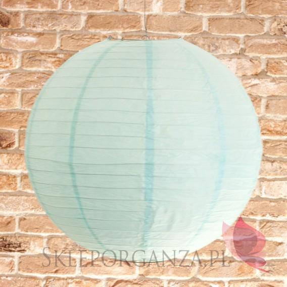 Papierowe lampiony kule na wesele Lampion dekoracyjny, kula jasnoniebieska 50cm