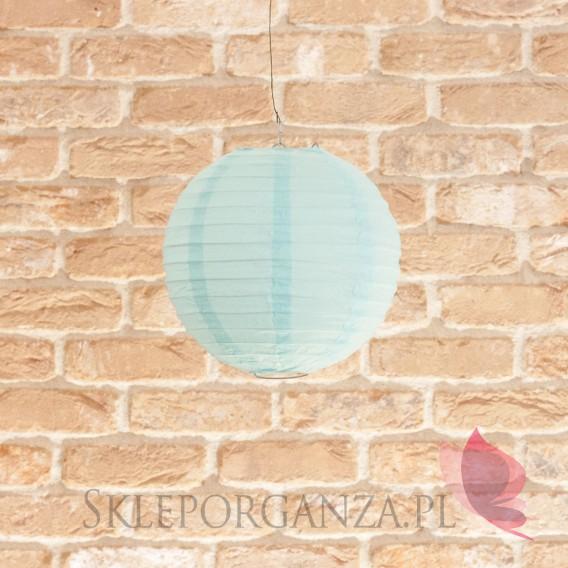 Papierowe lampiony kule na wesele Lampion dekoracyjny, kula jasnoniebieska 20cm