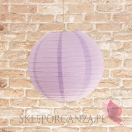 Lampion dekoracyjny, kula jasnofioletowa 35cm