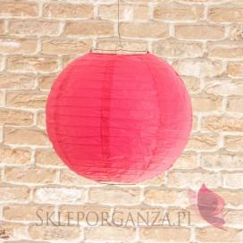 Lampion dekoracyjny, kula fuksja 35cm