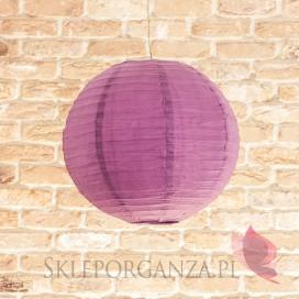 Lampion dekoracyjny, kula fioletowa 35cm