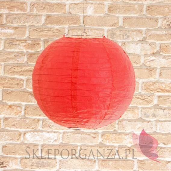 Papierowe lampiony kule na wesele Lampion dekoracyjny, kula czerwona 35cm