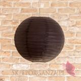 Lampion dekoracyjny, kula czarna 35cm