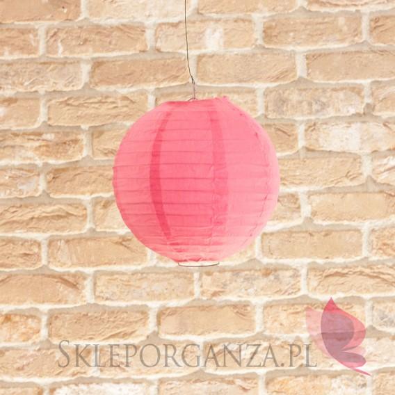 Papierowe lampiony kule na wesele Lampion dekoracyjny, kula ciemnoróżowa 20cm