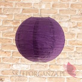 Lampion dekoracyjny, kula ciemnofioletowa 35cm