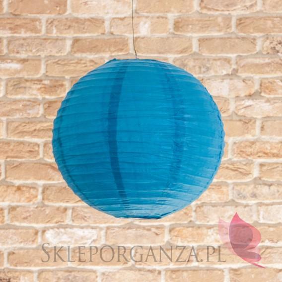 Papierowe lampiony kule na wesele Lampion dekoracyjny, kula błękit królewski 35cm