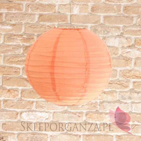 Papierowe lampiony kule na wesele Lampion dekoracyjny, kula brzoskwiniowa 35cm