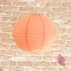 Lampion dekoracyjny, kula brzoskwiniowa 35cm