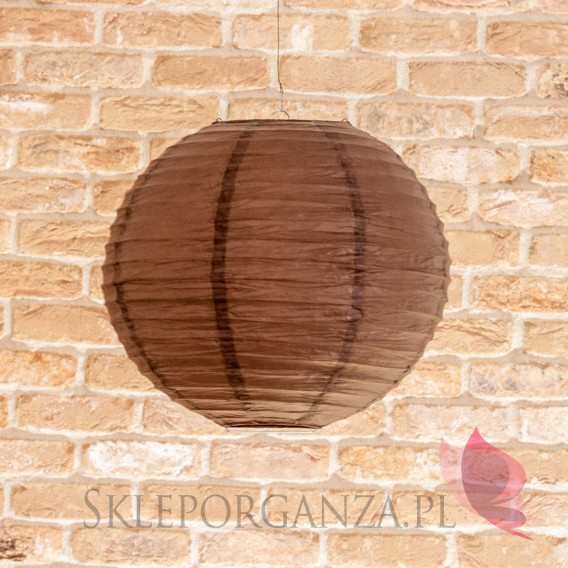 Papierowe lampiony kule na wesele Lampion dekoracyjny, kula brązowa 35cm