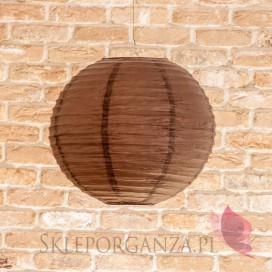 Lampion dekoracyjny, kula brązowa 35cm