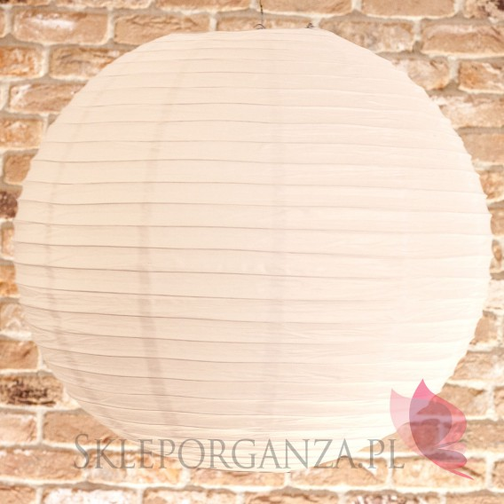 Papierowe lampiony kule na wesele Lampion dekoracyjny, kula biała 60cm