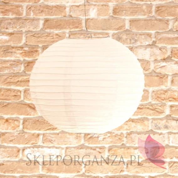 Papierowe lampiony kule na wesele Lampion dekoracyjny, kula biała 35cm