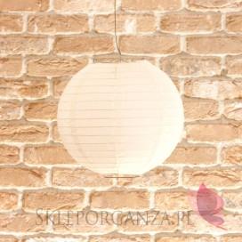 Lampion dekoracyjny, kula biała 25cm