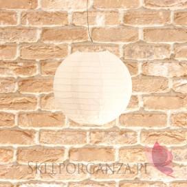 Lampion dekoracyjny, kula biała 20cm