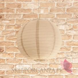 Lampion dekoracyjny, kula beżowa 35cm