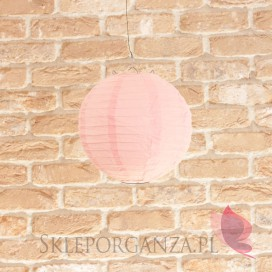Lampion dekoracyjny, kula jasnoróżowa 20cm