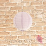Papierowe lampiony kule na wesele Lampion dekoracyjny, kula lawendowa 20cm