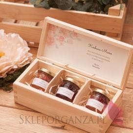 Personalizowany zestaw miodów w szkatułce - mały - Dzień Matki, Dzień Kobiet