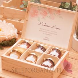 Personalizowany zestaw miodów w szkatułce - średni - Dzień Matki, Dzień Kobiet