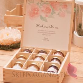 Personalizowany zestaw miodów w szkatułce - duży - Dzień Matki, Dzień Kobiet