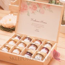 Dzień Matki - Dzień Kobiet Personalizowany zestaw miodów w szkatułce - ekskluzywny - Dzień Matki, Dzień Kobiet