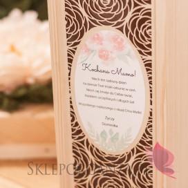 Dzień Matki - Dzień Kobiet Drewniana skrzynka na alkohol ROŻA - personalizacja Dzień Matki, Dzień Kobiet