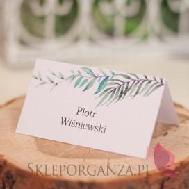 Winietka - personalizacja kolekcja ślubna ZIELONA GAŁĄZKA