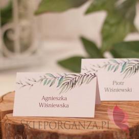 ZIELONA GAŁĄZKA na ślub Winietka - personalizacja kolekcja ślubna ZIELONA GAŁĄZKA
