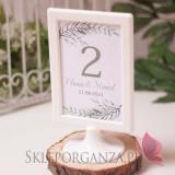 ZIELONA GAŁĄZKA na ślub Numer stolików - personalizacja kolekcja ślubna ZIELONA GAŁĄZKA
