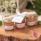Zestaw upominkowy miód - personalizacja kolekcja ślubna ZIELONA GAŁĄZKA