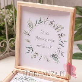 ZIELONA GAŁĄZKA na ślub Prośba o świadkowanie - personalizacja kolekcja ślubna ZIELONA GAŁĄZKA